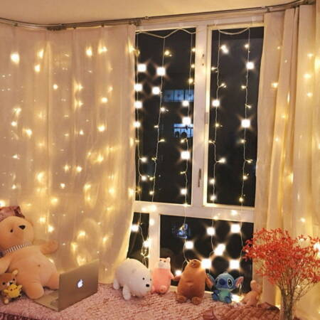 300 LED Curtain Party String Hanging Wall Lights USB Home Remote Control Koopo Top Pick on Koopo